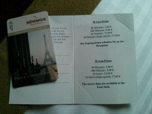 Mövenpick Hotel an der Frankfurt Messe WLAN WiFi Preise Rate