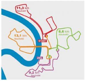 METRO GROUP Marathon 2016 Firmenstaffel Strecke Düsseldorf