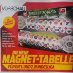Magnet-Tabelle Sport Bild Saison 2014 2015 1. Bundesliga 2. Bundesliga