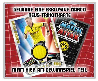 Marco Reus Trikotkarte Trikot Match Attax 2012 2013