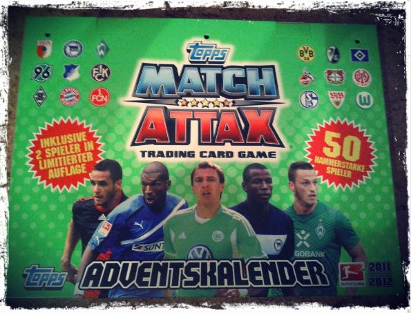 Match Attax Trading Carde Game Adventskalender 2011