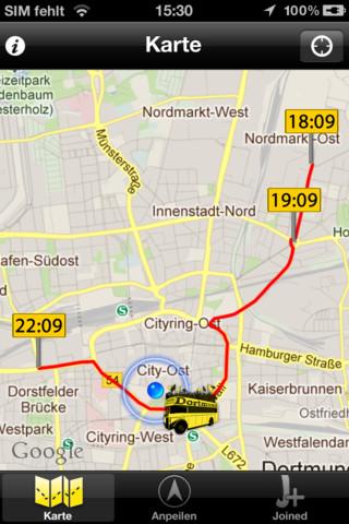 Meisterkorso App BVB Deutscher Meister Borussia Dortmund 2012 Download iOS Karte