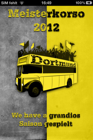 Meisterkorso App BVB Deutscher Meister Borussia Dortmund 2012 Download iOs