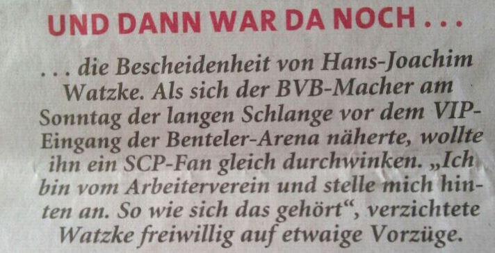Neue Westfälische Hans-Joachim Watzke Borussia Dortmund NW