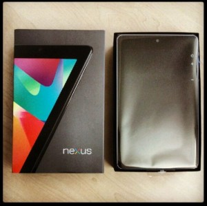 Nexus 7 Google Asus neu Verpackung Schachtel