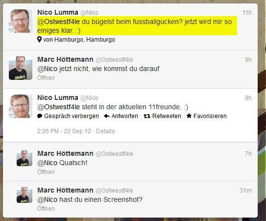 Nico Lumma (Nico) auf Twitter 11Freunde Bügeln