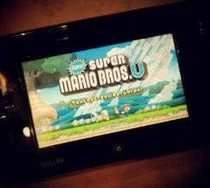 Nintendo Wii U GamePad schwarz New Super Mario Bros. U