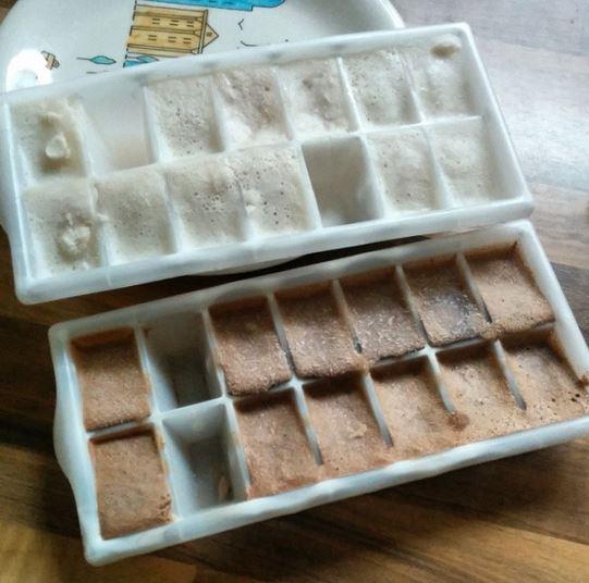 Nutella Eis Eiswürfel Bananen Eis