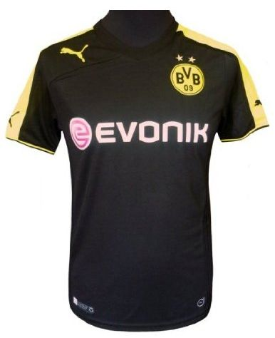 PUMA Herren Trikot BVB Away Shirt Replica with Sponsor Logo Borussia Dortmund Amazon