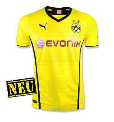 PUMA Herren Trikot BVB Home Shirt Replica with Sponsor Logo Borussia Dortmund Amazon