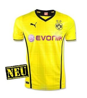 PUMA Kinder Trikot BVB Kids Borussia Dortmund Home Shirt Replica with Sponsor Logo Amazon