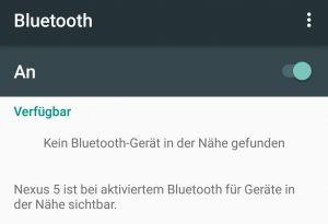 Pairing Bluetooth Nexus 5