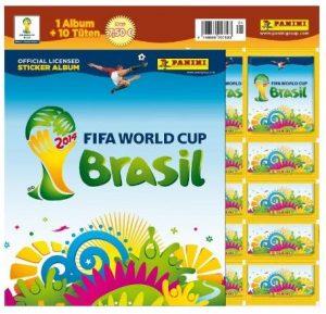 Panini 207503 FIFA World Cup Brasil 2014 Starterset mit Sammelalbum, 10 Tüten