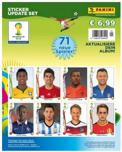 Panini 506990  Sammelsticker Update Set mit 71 Stickern