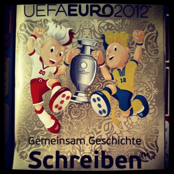 Panini EM 2012 Gemeinsam Geschichte Schreiben Sammelalbum Sticker