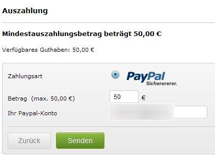 PayPal Auszahlung EverLinks Guthaben