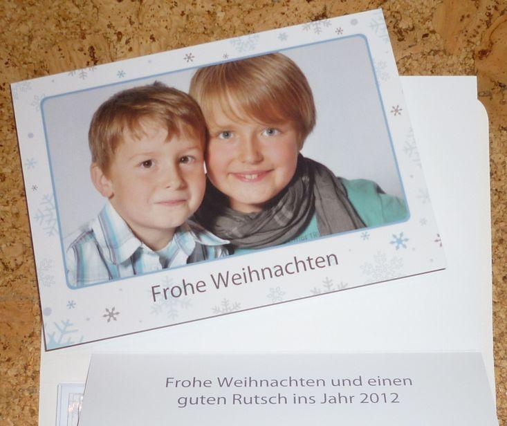 Photobox Weihnachtskarte 2011 2012 mit Umschlag