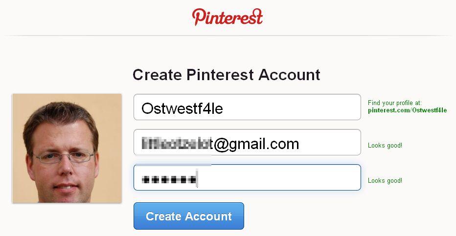 Pinterest Invite Account Create Registrierung