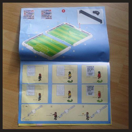 Produkttest PLAYMOBIL 4725 Große Fußball-Arena im Klappkoffer Anleitung