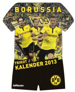 Produkttest Rezension Borussia Dortmund Trikotkalender 2013 Kalender teNeues
