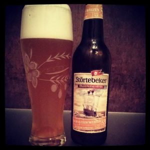 Produkttest Störtebeker Bier Stralsund Bernstein Weizen