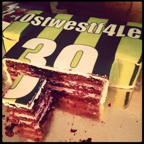 Produkttest Test Torte Fußballtrikot Borussia Dortmund BVB deineTorte.de