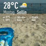 Rügen Sellin Strand Meer Ostsee Urlaub Luftmatratze Sand