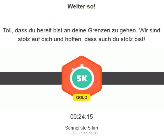 Rekord 5 Kilometer Laufen Running 19032015