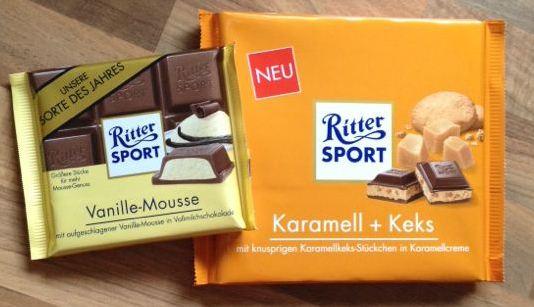 Ritter Sport Vanille-Mousse Karamell + Keks