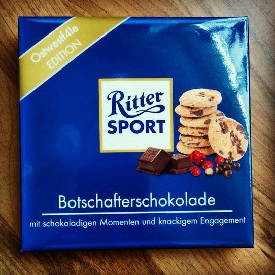 Ritter Sport Abschiedsgeschenk Botschafter Botschafterschokolade