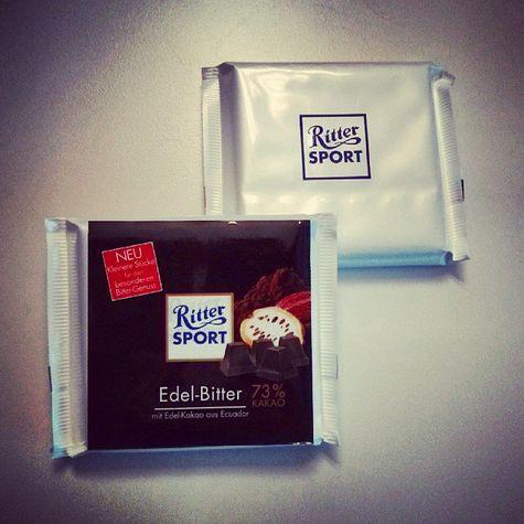 Ritter Sport Edel-Bitter 73 Prozent Kakao Gewinnspiel white label