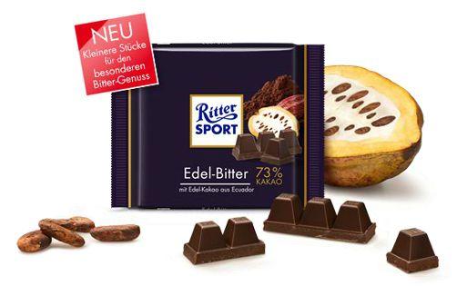 Ritter Sport Edel-Bitter 73 Prozent Kakao Gewinnspiel