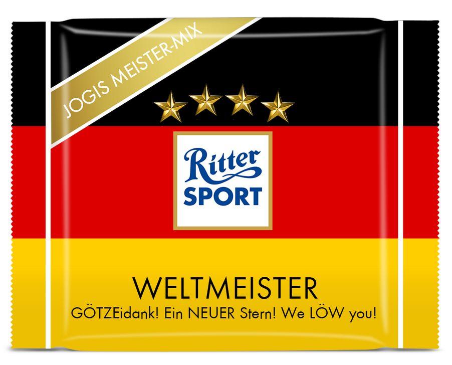 Ritter Sport Jogis Meister-Mix Weltmeister Edition