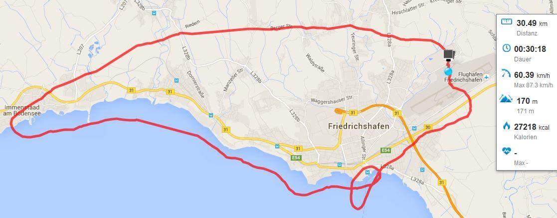 Rundflug Zeppelin Bodensee Friedrichshafen runtastic
