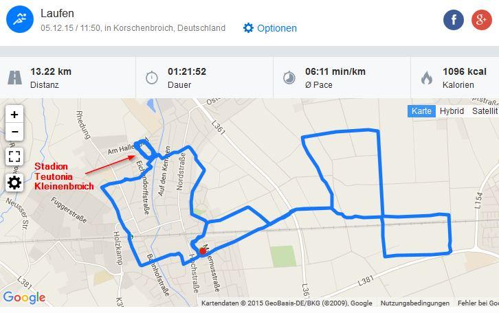 Running Laufen 05122015 Kleinenbroich Teutonia