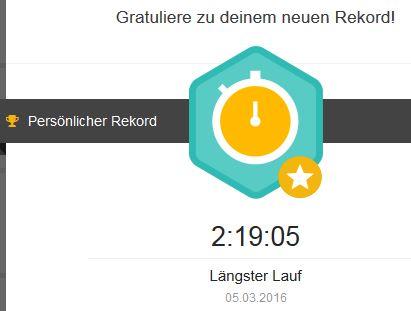 Runtastic Längster Lauf