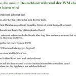 Sätze, die man in Deutschland während der WM nicht hören wird