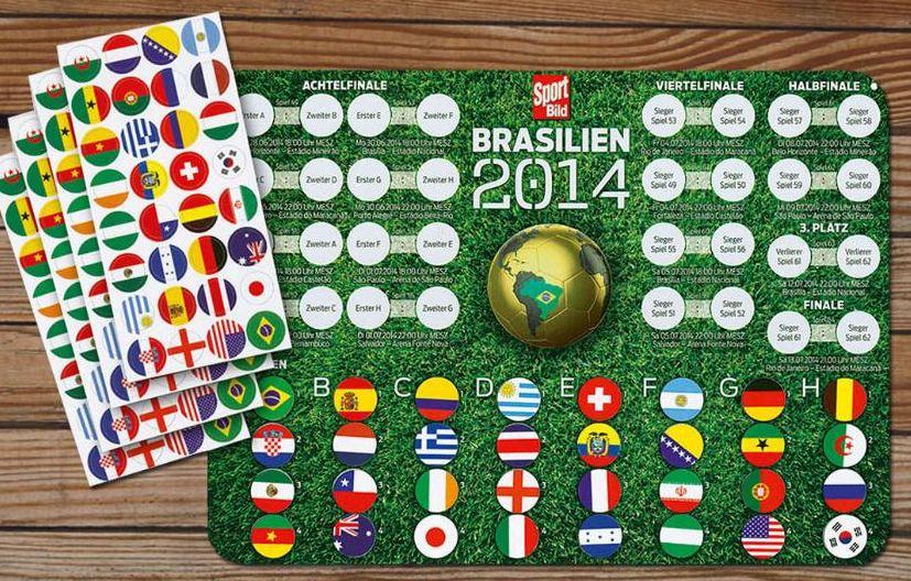 SPORT BILD mit Magnet-Tabelle für die WM