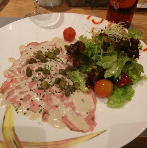 Sansibar by Breuninger Düsseldorf Rheinland Menü Restaurant Vitello tonnato Vorspeise