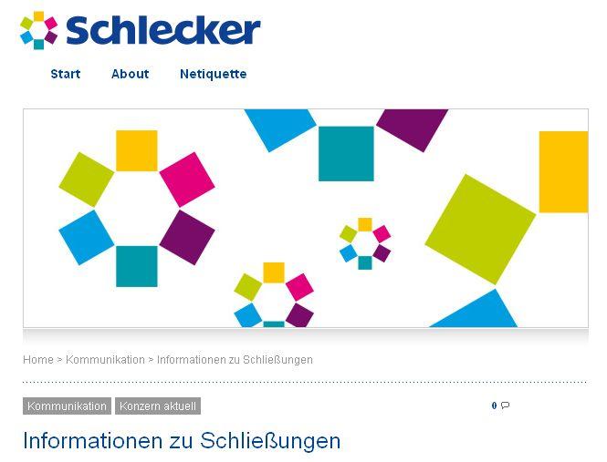 Schlecker Liste Schließungen Filiale Rheinland Deutschland