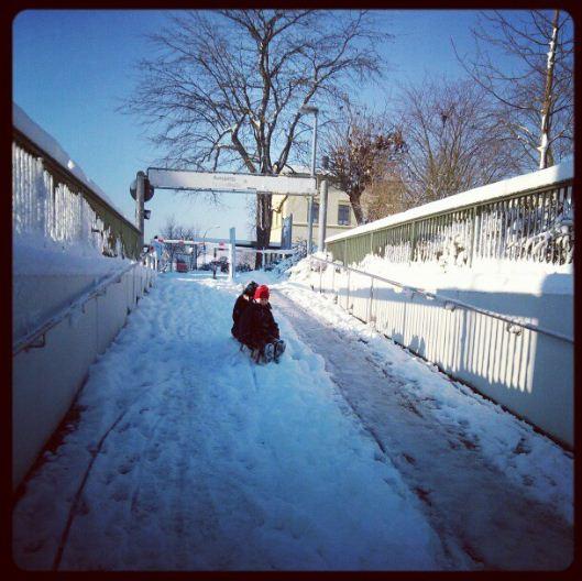 Schlittenfahrt Kleinenbroich Schnee Winter