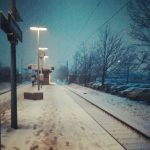 Schnee Winter Kleinenbroich S8 Bahnhof