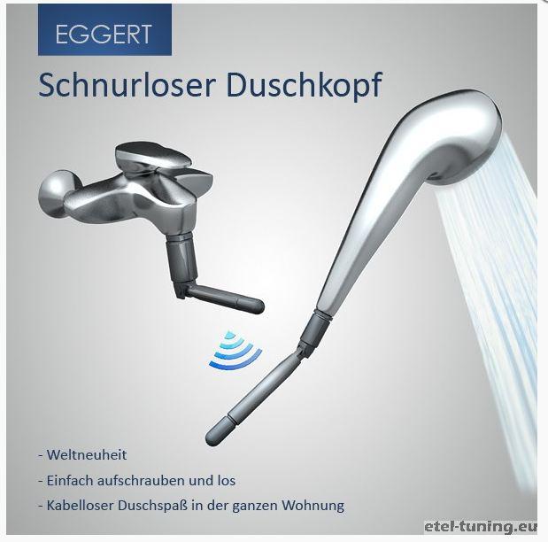 Schnurloser Duschkopf - Etel-Tuning