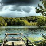 Schwarzer See Rügen Sellin Steg Wolken