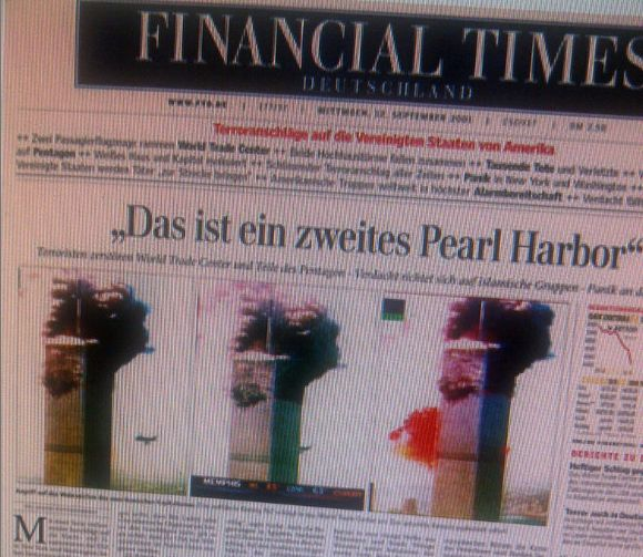 Screenshot Financial Times Deutschland 9/11 2001