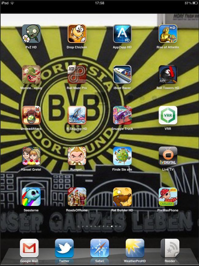 Screenshot Homescreen iPad März 2012