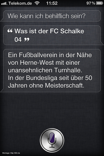 Siri Apple Schalke 04