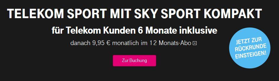 Sky Sport Kompakt inklusive bei Telekom Sport Aktion