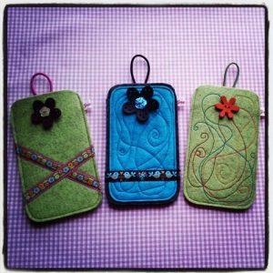 Smartphone Tasche Filz DaWanda Gretels Werke