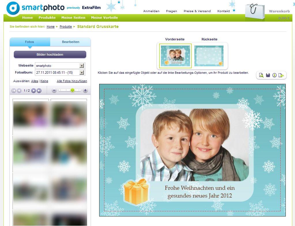 Smartphoto Grußkarte Weihnachtskarte